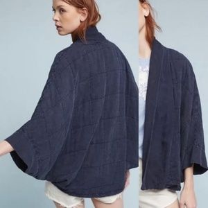 Anthro Saturday Sunday Quilted Kimono Cocoon Coat